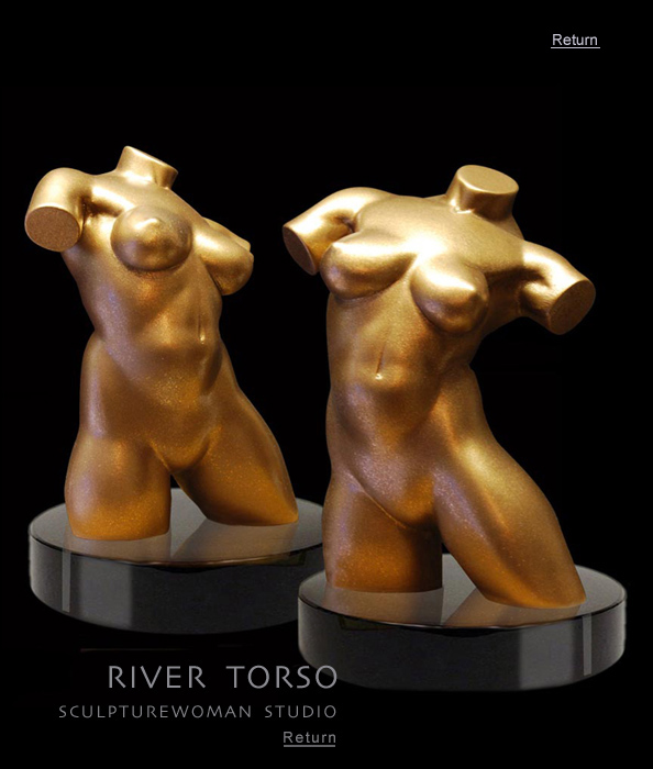 Masterful bronze sculpture of nude female for purchase. Torso of woman. Art collectors, buy nude erotic art sculptures of women, bronze nudes, nude female figure, female form in bronze, entitled River, bronze or resin, macquette
