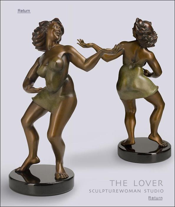 Bronze Sculpture by Eleanor Seeley entitled The Lover. Art collectors, buy sculptures of women, bronze nudes, female figure, female form in bronze, The Lover, bronze or resin
